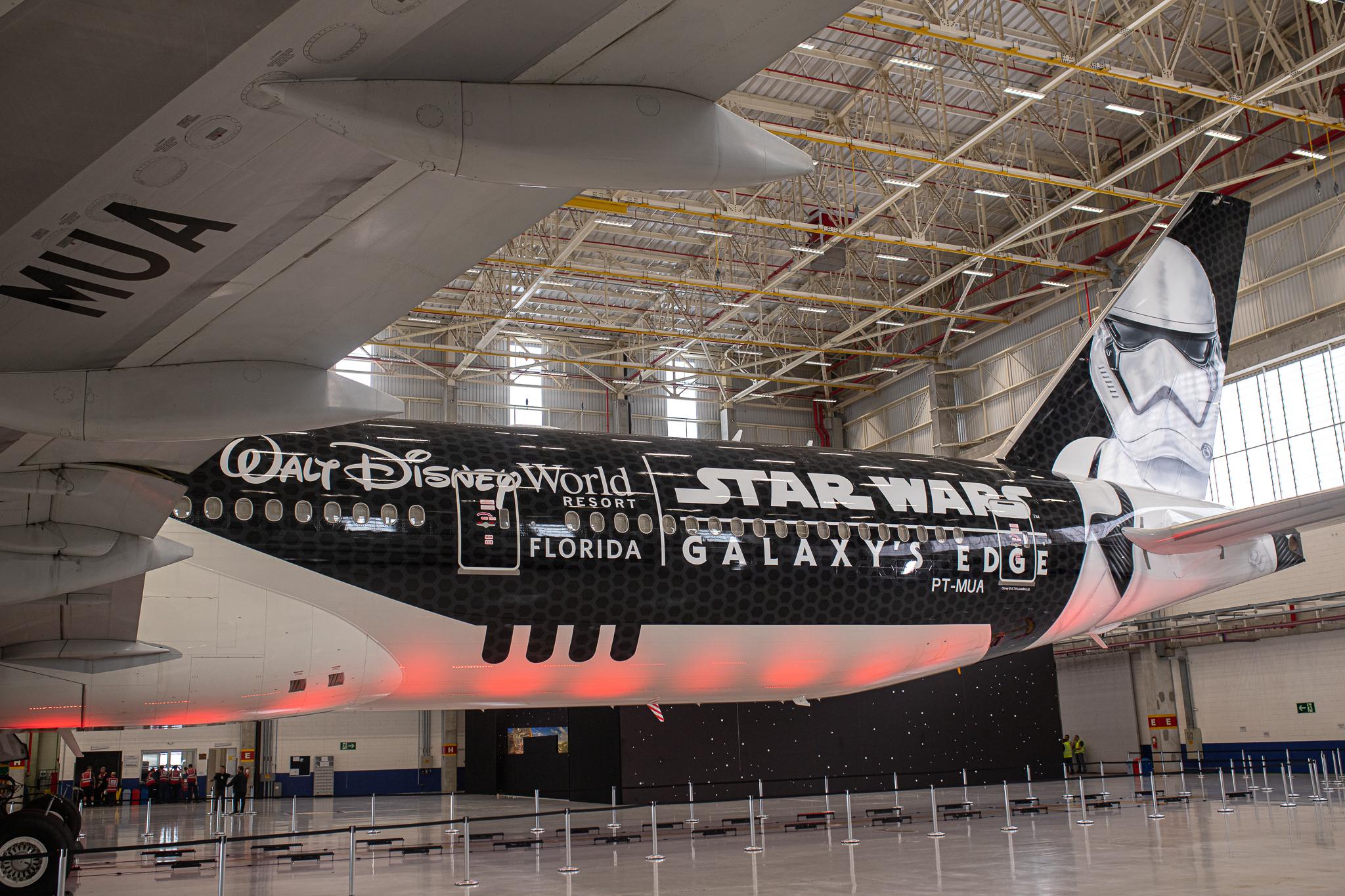 Latam e Disney fazem parceria – Avião Stormtrooper